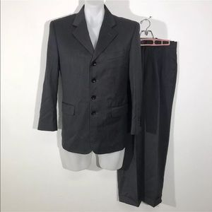 💎 ANDRE LANZINO Wool Suit Gray 4 Button